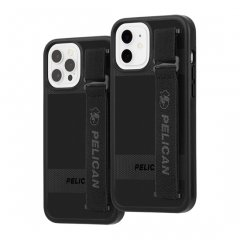 【Pelican × Case-Mate 抗菌仕様】iPhone 12 / iPhone 12 Pro 共用 Pelican Protector Sling - Black w/ Micropel