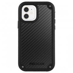 【Pelican × Case-Mate 抗菌仕様】iPhone 12 mini Pelican Shield - Black Kevlar w/ Micropel ホルスターセット