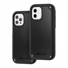 【Pelican×Case-Mate 抗菌仕様】iPhone12/iPhone 12 Pro 共用 Pelican Shield - Black Kevlar w/ Micropel ホルスターセット