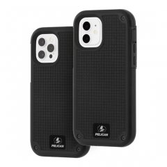 【Pelican×Case-Mate 抗菌仕様】iPhone12/iPhone12 Pro 共用 Pelican Shield-Black G10 w/Micropel ホルスターセット