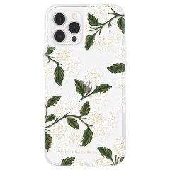 【RIFLE PAPER × Case-Mate】iPhone12/iPhone12 Pro 共用 RIFLE PAPER - Clear Hydrangea - White w/ Micropel