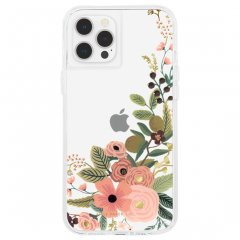 【RIFLE PAPER × Case-Mate】iPhone12/iPhone12 Pro 共用 RIFLE PAPER - Clear Garden Party Rose w/ Micropel