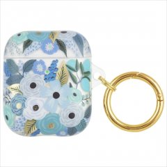 【RIFLE PAPER × Case-Mate ワイヤレス充電もOK】AirPods 第1世代・第2世代 用ケース Garden Party Blue