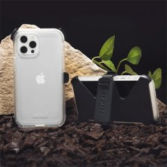 【Pelican × Case-Mate 抗菌仕様】iPhone 12 / iPhone 12 Pro 共用 Pelican Voyager - Clear w/ Micropel ホルスターセット