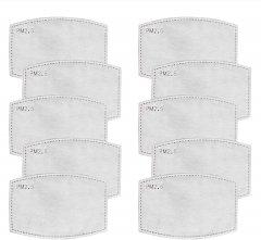 Safe+Mate 布フェイスマスク用 5層交換用フィルター (10枚パック) 大人用 サイズ S/M & L/XL 共用