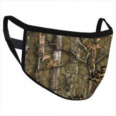 Safe+Mate 布フェイスマスク - 洗濯可能 & 再利用可能 - 大人用 サイズ L/XL - コットン - フィルター付き - ハンター カモ
