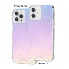 【虹色に輝くスネークスキンをイメージ+抗菌仕様】iPhone 12 / iPhone 12 Pro 共用 Iridescent Snake w/ Micropel