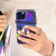 【グリップとスタンドの2つの機能】Crystal minis Suction Cup Phone Holder w/ Micropel- Iridescent