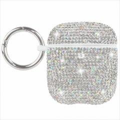【水晶がキラキラと輝く・AirPods 第1世代・第2世代・ワイヤレス充電もOK】 AirPods Case Brilliance - Silver