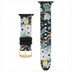 【RIFLE PAPER×Case-Mate】Rifle Paper Band for Apple Watch 1-3(42mm),4-7/SE(44mm) 共用 Garden Party Blue