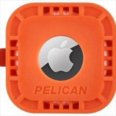 【Pelican】AirTag Pelican Protector Mount - Orange 様々な場所に固定可能なエアータグ・ホルダー