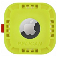 【Pelican】AirTag Pelican Protector Mount - Lime Green 様々な場所に固定可能なエアータグ・ホルダー