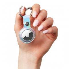 【リングが付いた便利なエアータグ・ホルダー】AirTag Clip Ring - Iridescent