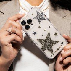 【ジェムストーンが星形に輝くケース+抗菌仕様】iPhone 13 Pro Max Sheer Superstar - Clear w/ Antimicrobial