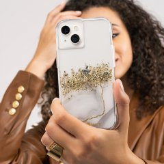 【24金を散りばめた輝くケース+抗菌仕様】iPhone 13 Karat Marble w/ Antimicrobial