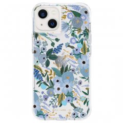 【RIFLE PAPER】iPhone 13 RIFLE PAPER - Garden Party Blue w/ Antimicrobial