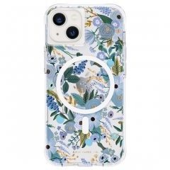 【MagSafe®完全対応 RIFLE PAPER】iPhone 13 RIFLE PAPER - Garden Party Blue 抗菌仕様