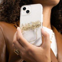 【24金を散りばめた輝くケース+抗菌仕様】iPhone 13 mini Karat Marble w/ Antimicrobial