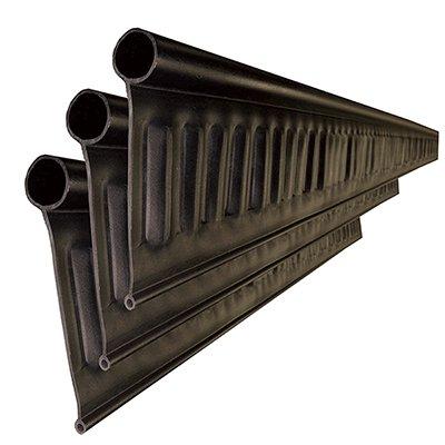 リサイクルエッジング(R) Vタイプ プラエッジ100 黒色 高さ:13� 長さ:約2m×3本、アンカーピン10本、ストレートジョイント 太:3本 細:3本入(旧 Vタイプ +プラス)