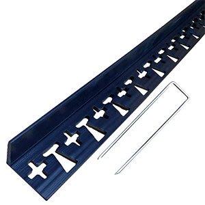 リサイクルエッジング(R) Lタイプ プラエッジ45 高さ:4.5� 長さ:約1.8m×3本、アンカーピン10本入(旧 ブロック見切)