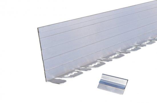 リサイクルエッジング(R) Vタイプ アルミエッジ100(植栽帯/天然芝見切)高さ:10cm 長さ:2m×3本、アンカーピン9本、アルミジョイント3個入