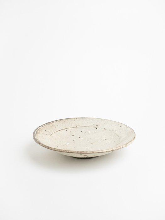 粉引8寸リム皿 / 山田隆太郎