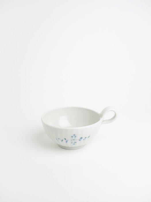 染付しのぎスープ碗 / 志村和晃