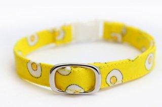 猫首輪 目玉焼き(黄色)