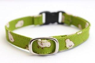 猫首輪 ひよこ(緑)