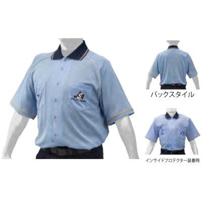 MIZUNO 球審用半袖シャツ(フロントオープン型)<BR>12JC9X1419<BR>