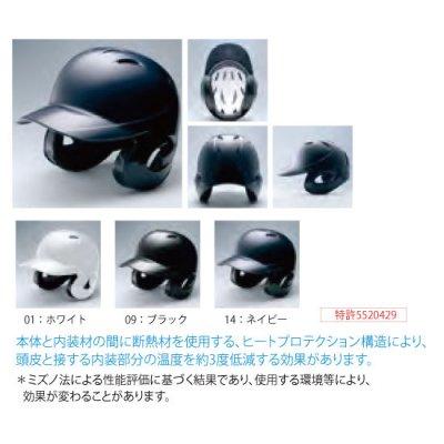 MIZUNO 硬式用ヘルメット(両耳付打者用)<BR>2HA188<BR>