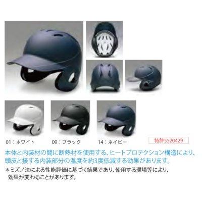 MIZUNO 硬式用ヘルメット(両耳付打者用/つや消しタイプ)<BR>2HA189<BR>