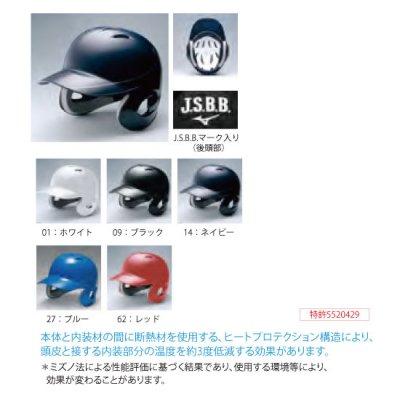 MIZUNO 少年軟式用ヘルメット(両耳付打者用)<BR>1DJHY102<BR>