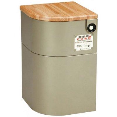 EV椅子(防災対応) トイレ用品付き ライトゴールド【別途送料・都度見積】 <BR> 401-832 <BR>