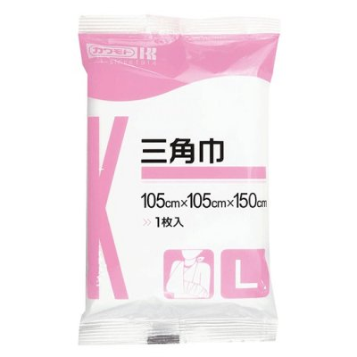 三角巾 L 105×105×150cm <br> 401-222 <br>