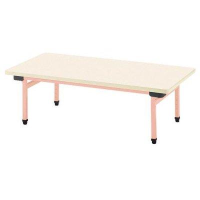 多目的テーブル 抗ウイルスメラミン W900×D600 ピンク 【別途送料、都度見積り】 <BR> 110-756 <BR>