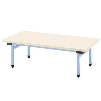 多目的テーブル 抗ウイルスメラミン W1200×D600 ブルー 【別途送料、都度見積り】 <BR> 110-761 <BR>