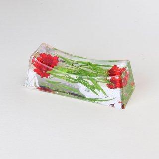 お花の箸置き アスパラレッド
