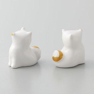 【干支みくじ】正月飾り 干支置物 戌 犬のオーナメント置物 白 開運おみくじ付 箱入り