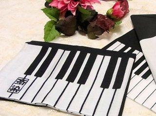 【手捺染本染め手拭い】 ピアノ柄手ぬぐい