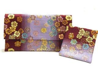 【金襴の和小物】【花楽堂オリジナル手作り札入れ】 金襴 札入れ財布とコースターのセット 29