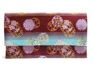 【金襴の和小物】【花楽堂オリジナル手作り札入れ】 金襴 札入れ財布とコースターのセット 25