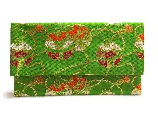 【金襴の和小物】【花楽堂オリジナル手作り札入れ】 金襴 札入れ財布とコースターのセット 24