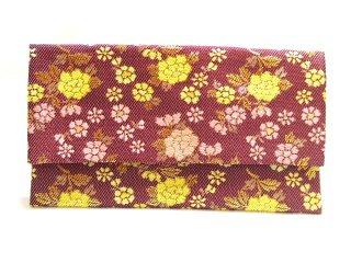 【金襴の和小物】【花楽堂オリジナル手作り札入れ】 金襴 札入れ財布とコースターのセット 23