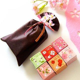 【京都くろちく】椿堂 練り香水6種(桜・薔薇・椿・沈丁花・芙蓉・すずらん)花の香りギフトセット
