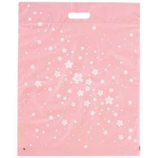 【桜のビニール袋】 さくらPEバッグ(底マチつき)