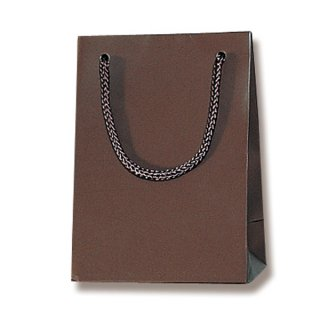 ギフト紙袋 ブライトバッグ チョコブラウン 縦長