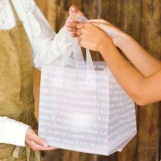 フレンチフロストバッグ 半透明 リーズナブル手提げ袋