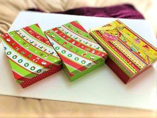【クリスマスギフトに】 クリスマス柄 ギフト箱 Xmasプレゼントボックス (花楽堂の商品購入者限定)
