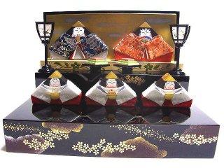 ★積み木のお雛さま★【雛人形】【収納飾り】会津塗 雛飾り「日本のまつりごと おひなさま」 本型収納